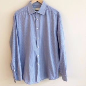 Micheal Kors | Button Down Striped Dress Shirt XL